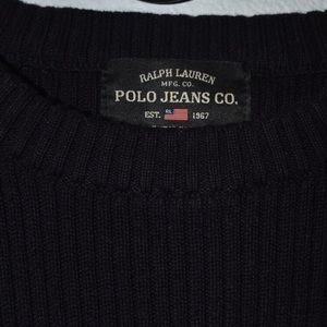 Polo by Ralph Lauren Shirts - Vintage Polo Jeans Side Stripe Sweater